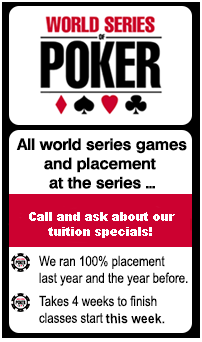 World Series of Poker Course Promo